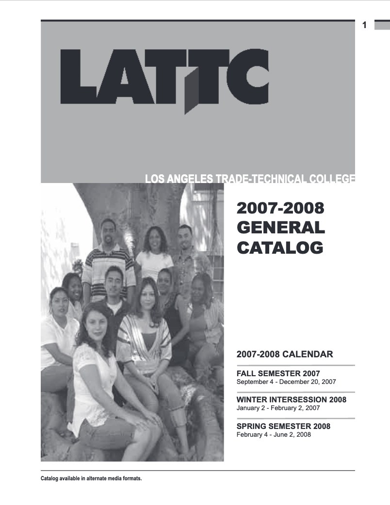 College Catalog 2007-2008 Archived