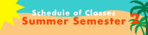Summer 2 2021 Schedule of Classes banner image