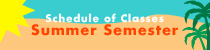 Summer 2020 Schedule of Classes banner image