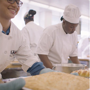 Students making bread