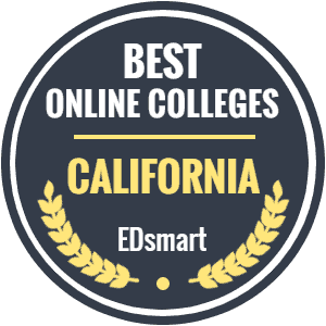 Award Symbol - Best Online Colleges - Calfornia (EdSmart) - LATTC Ranked in the Top 20 of Online Colleges in California